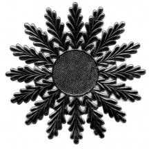 Large Black Dresden Foil Medallions or Halo ~ 2