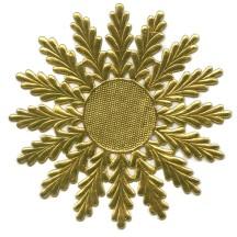 Large Gold Dresden Foil Medallions or Halo ~ 2