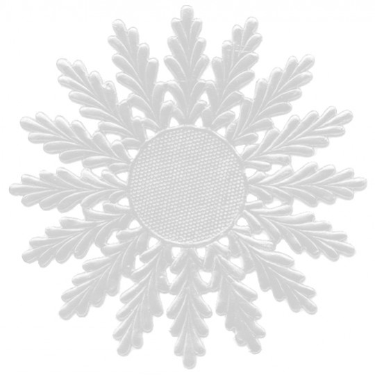 Large White Dresden Foil Medallions or Snowflakes ~ 2