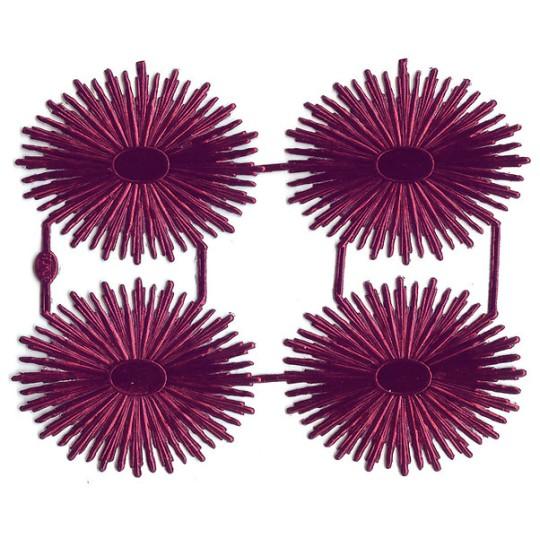 Burgundy Dresden Foil Oval Halos ~ 4