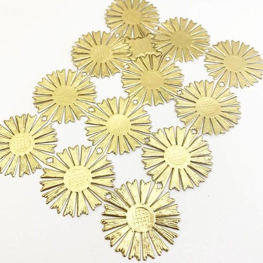 Gold Dresden Foil Round Halos ~ 12
