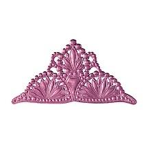 Extra Large Pink Dresden Foil Tiara