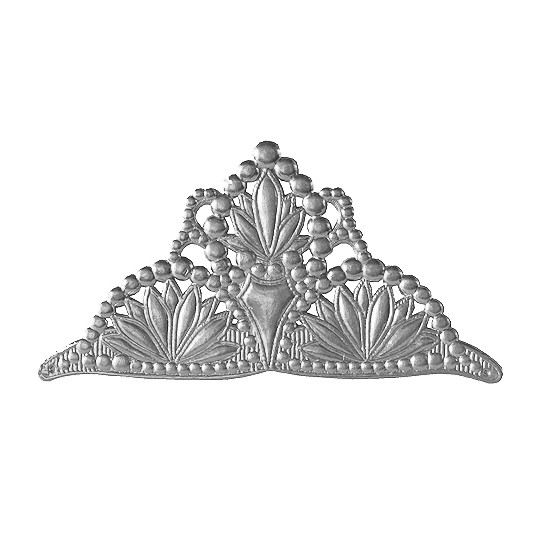 Life Sized Large Silver Dresden Foil Tiara