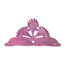 Life Sized Large Pink Dresden Foil Tiara with Heart