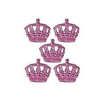 Pink Dresden Foil Miniature Crowns ~ 12