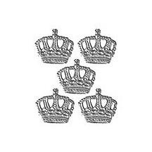 Silver Dresden Foil Miniature Crowns ~ 12
