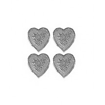 Silver Dresden Foil Floral Hearts ~ 20