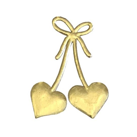 Gold Dresden Foil Hearts & Bows ~ 30