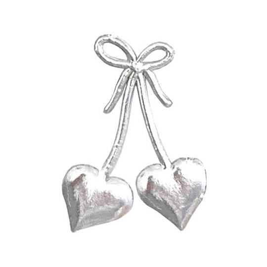 Silver Dresden Foil Hearts & Bows ~ 30