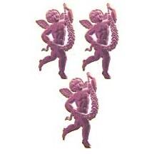 Pink Dresden Foil Miniature Cherubs ~ 10