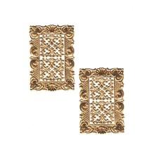 Petite Antique Gold Dresden Foil Frames + Corners ~ 2