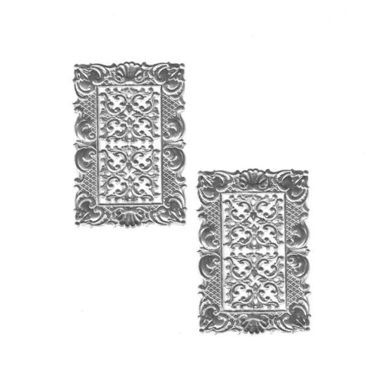 Petite Silver Dresden Foil Frames + Corners ~ 2