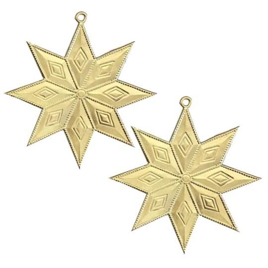 Gold Dresden Foil Diamond Stars ~ 4