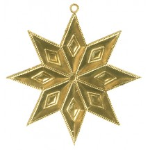 Gold Dresden Foil Diamond Stars ~ 4