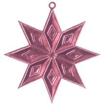 Pink Dresden Foil Diamond Stars ~ 4