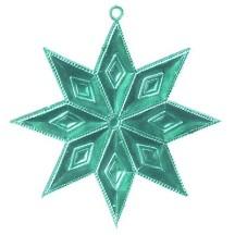 Aqua Dresden Foil Diamond Stars ~ 4