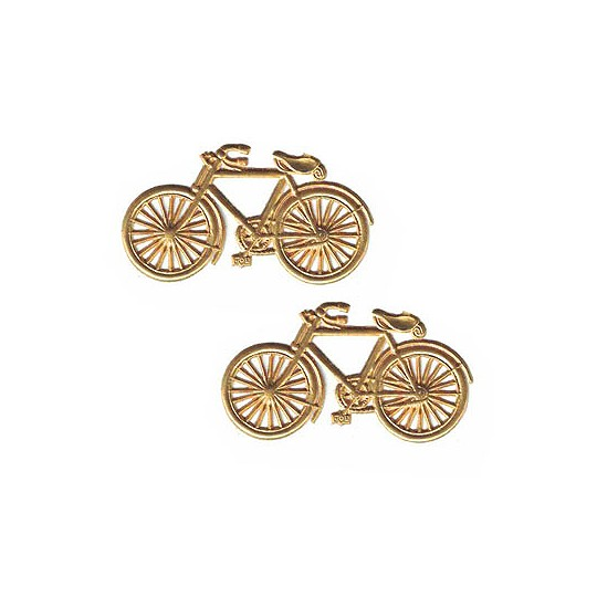 Antique Gold Dresden Foil Bicycles ~ 6