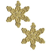 Fancy Gold Dresden Snowflakes ~ 14