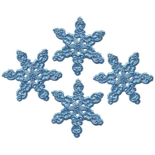 Fancy Steel Blue Dresden Snowflakes ~ 14