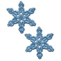 Fancy Steel Blue Dresden Snowflakes ~ 14