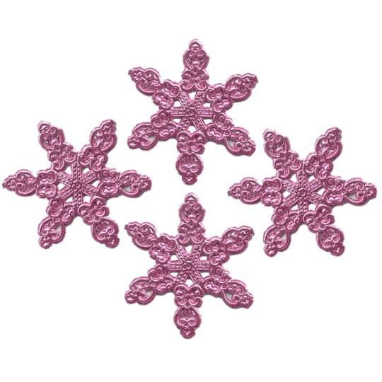 Fancy Pink Dresden Snowflakes ~ 14