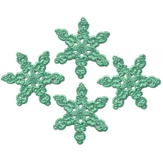 Fancy Aqua Dresden Snowflakes ~ 14