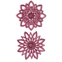 Pink Dresden Foil Snowflakes or Halos ~ 8 Asst.