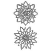 Silver Dresden Foil Snowflakes or Halos ~ 8 Asst.