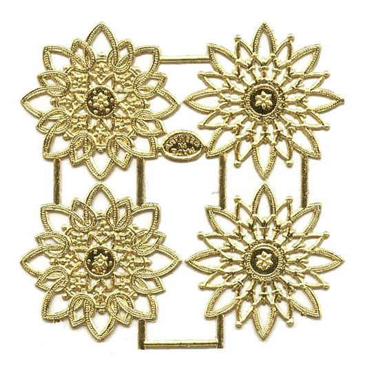 Gold Dresden Foil Snowflakes or Halos ~ 8 Asst.