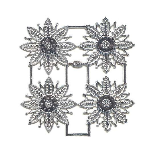 Silver Dresden Foil Filligree Snowflakes or Halos ~ 8 Asst.