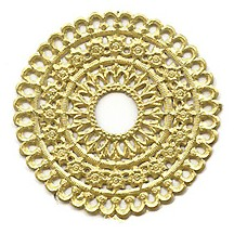 Gold Dresden Foil Scalloped Halos ~ 4
