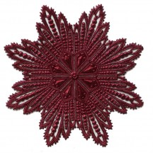 Extra Large Burgundy Dresden Foil Filigree Snowflake or Halo ~ 1