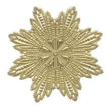 Extra Large Gold Dresden Foil Filigree Snowflake or Halo ~ 1