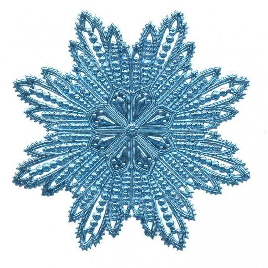 Extra Large Light Blue Dresden Foil Filigree Snowflake or Halo ~ 1