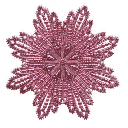 Extra Large Pink Dresden Foil Filigree Snowflake or Halo ~ 1
