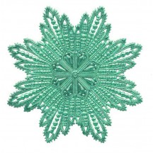 Extra Large Aqua Dresden Foil Filigree Snowflake or Halo ~ 1