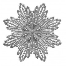 Extra Large Silver Dresden Foil Filigree Snowflake or Halo ~ 1