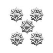 Silver Dresden Foil Star Medallions ~ 54