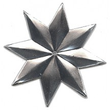 Large Silver Dresden Star ~ 3