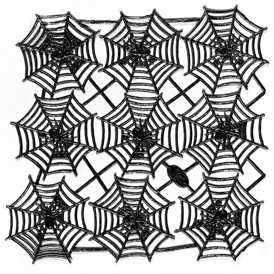 Black Dresden Spider Webs ~ 9