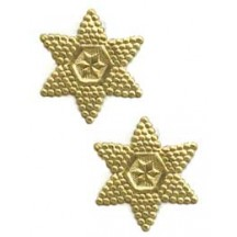 Gold Bumpy Victorian Double Stars ~ 20