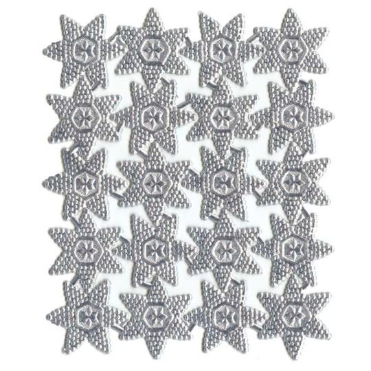 Silver Bumpy Victorian Double Stars ~ 20