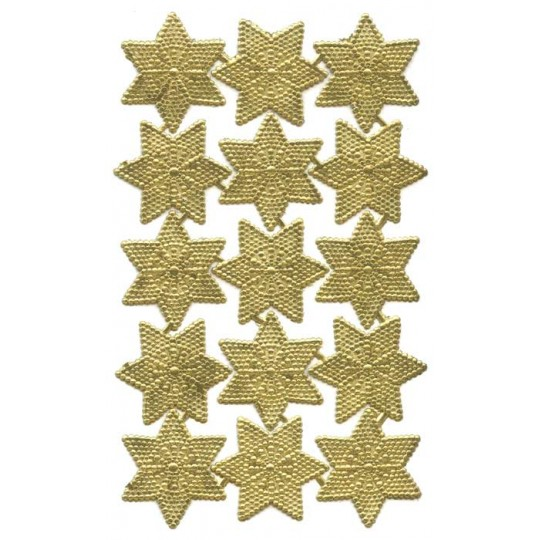Gold Dresden Small Dot Victorian Stars ~ 20
