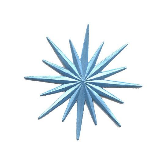 Small Celestial Light Blue Dresden Foil Halo ~ 3