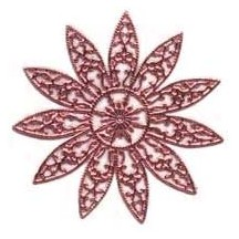 Large Fancy Filigree Pink Dresden Snowflakes or Halos ~ 2