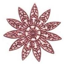 Large Fancy Filigree Pink Dresden Snowflakes or Halos ~ 2