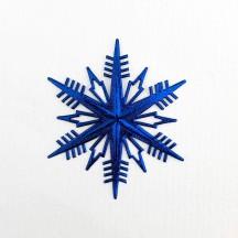 Petite Classic Dark Blue Dresden Foil Snowflakes ~ 3