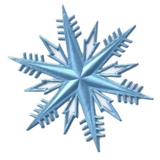Petite Classic Light Blue Dresden Foil Snowflakes ~ 3