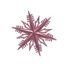 Petite Classic Pink Dresden Foil Snowflakes ~ 3
