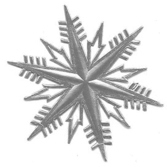 Petite Classic Silver Dresden Foil Snowflakes ~ 3